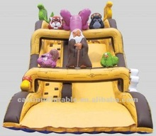 inflatable fun city playground bouncer slide,,single lane slide, gaint slide