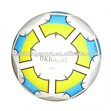 Machine sewn PVC leather football soccer ball