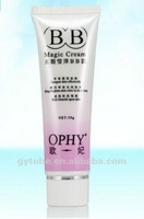 Plastic tube container for bb cream cosmetic in korea