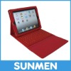 Wireless bluetooth3.0 Silicon Keyboard Case for iPad2/3 Red Color