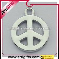 blank circle pendant charm