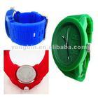 Latest Fashion candy diamond jelly SILICONE WATCH(green)