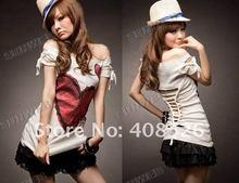 2012 Women's Fashion Korea Sexy Love Off Shoulder T-shirt Tops 2303