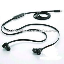 2012 fashion headphone earphones flat cable 3.5mm