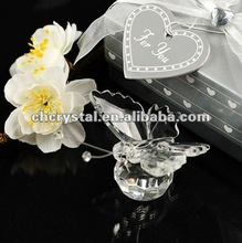 clear crystal wedding favors butterfly , crystal butterfly gifts
