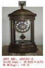 antique Europe brass enamel style craft table clock