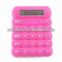 2012 Promotion color silicone rubber mini calculator