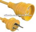 como australia 3112 de tres clavijas del cable de alimentación con enchufe aea de certificación