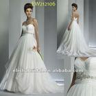 Princess Floor length Jewelry Beaded Empire Waistline Sweetheart organza Maternity Bridal Gowns