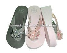 Fashion flower EVA high heel sandals for women