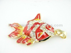 Jewelry USB flash drive goldfish series