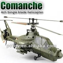 Fx035 único Blade 4 Ch rc helicóptero Apache