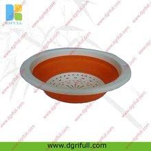 Food grade silicone foldable washing basket