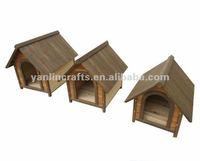 Customized wood dog house