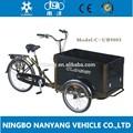 Três rodas 3 velocidades/7 velocidades modelo de bicicleta de carga/cargobike/ub9005 triciclo