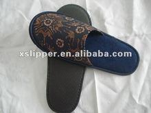 print cloth close toe hotel slipper,cheap slipper