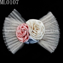 Hot new products for 2012 fabric hair bow,headband hair accessories