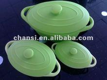 best seller!!!green rectangular silcone cups/steamer from Dongguan (CSRCP-L/M/S)