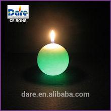 Round ball wax led art candle