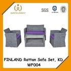 WF-004 Finland Rattan Sofa Set, KD design