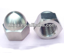 high polished stainless steel hex domed head cap nut