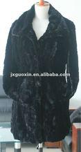 stocklot black fake rabbit fur jacket