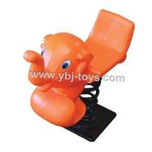 orange elephant spring ride