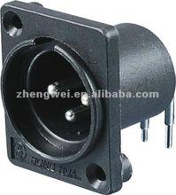 ZWEE SPM-02C 3p XLR Male Mixer Connector Vertical Pins