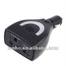 75W Car Power Inverter Charger DC 12V to AC 220V USB 5V