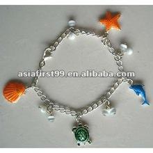 fashion zinc alloy charms bracelet