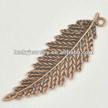 Bulk Fashion Alloy Metal Accessories Jewelry Pendant Leaf Shape China Leaf Charm