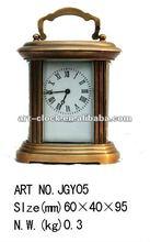 brass antique mechanical art craft clock(factory carriage)