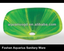 Bathroom Glass Wash Hand Basin, 17mm Thickness