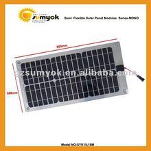 Small power flexible solar module 18w