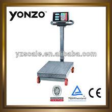 LCD/LED double display movable indicator 300kg/500KG /600KG/800KG electronic Platform Scale (YZ-807)