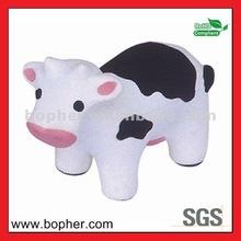 custom lovely pu stress cow toy