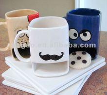 2012 hot sales durable porcelain white biscuit mug