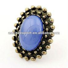 wholesale crystal big pearl ring