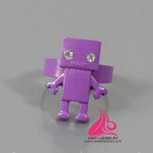2012 latest design purple robot ring