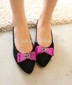 Calçados outono mulheres arco design sapatilhas cúspide girls' toe calçados flats