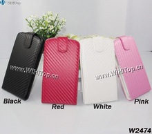 Hot Sale Carbon Fiber Flip Leather Hard Case Cover for Samsung Galaxy S3 SIII i9300 High Quality