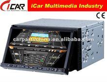 NEW/HOT Double Din 7'' touch screen,GPS, Bluetooth, TV, PIP, IPod, 3D UI car dvd cd usb sd tv bluetooth
