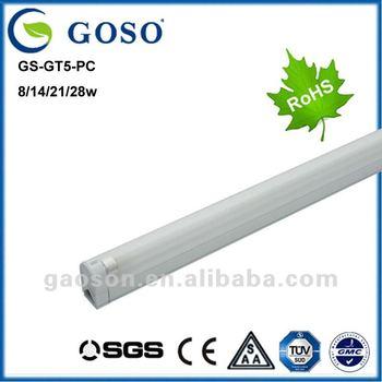 Economical fluorescent light fixture cover GS-GT5-PC-14W