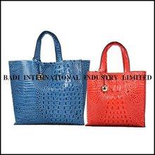 2014 leather ladies' handbag manufacturers leather handbags women crocodile ladies' handbag