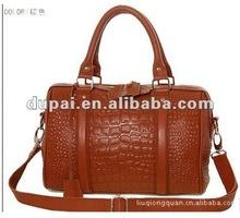 2012 crocodile-embossed genuine leather cheap ladies bags