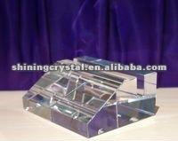 blank optical crystal business card holder