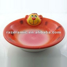 Hand-Painted Animal Low Bowl -Monkey