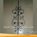 fabricante de zinc recubierto de hierro forjado para piquete barandillas de escalera cerca de las puertas barra sólida
