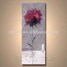 Hot Sell Handmade Red Rose Flower Oil Painting