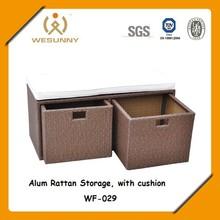 outdoor rattan cushion storage box